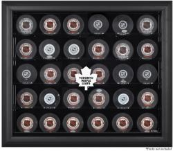 Toronto Maple Leafs 30-Puck Black Display Case - Mounted Memories