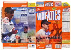 Joe Torre New York Yankees Autographed Wheaties Box-Limited Edition of 100 - Mounted Memories