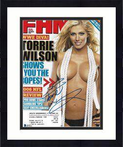 Torrie Wilson Signed September 2006 FHM Magazine BAS Beckett COA WWE Autograph