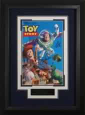 Toy Story Tom Hanks & Tim Allen Signed 11x17 Poster Fram