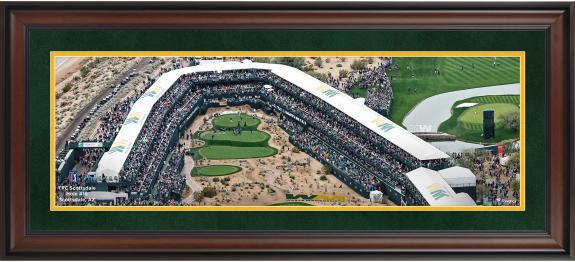 "TPC Scottsdale Framed 10"" x 30"" Hole #16 PGA Tour Photograph"