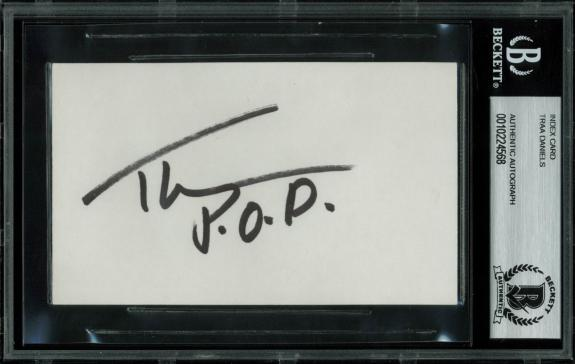 Traa Daniels P.O.D. Signed 3x5 Index Card BAS #10224568