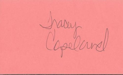 Tracey Copeland Signed 3x5 Index Card In the Heat of the Night