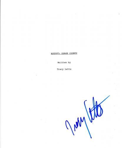 Tracy Letts Signed August: Osage County Full 139  Page Script Autograph Coa