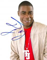 Tracy Morgan Autographed Signed Leather Jacket Photo AFTAL
