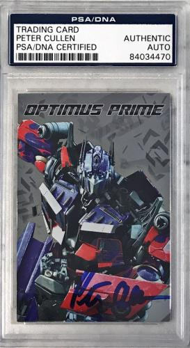 Transformers The Movie Peter Cullen Optimus Prime Signed Auto Card #01 PSA/DNA