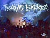 "Travis Barker Autographed 8"" x 10"" Travis Barker Stage Photograph - BAS COA"