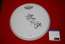 TRAVIS BARKER blink 182 plus 44 signed PSA/DNA remo drumhead 1