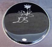 "Travis Barker Blink-182 Signed Auto Autograph Remo 13"" Drumhead JSA K42570"