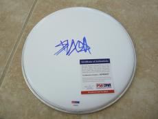"Travis Barker Blink 182 Signed Autographed 10"" Drumhead PSA Certified #1"