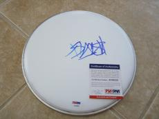 "Travis Barker Blink 182 Signed Autographed 10"" Drumhead PSA Certified #2"