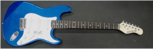 Travis Barker Hand Signed Autographed Electric Guitar Blink 182 JSA S40633