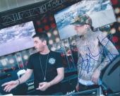 Travis Barker Signed Autographed 8x10 Photo BLINK 182 with DJ AM A