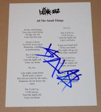 Travis Barker Signed Autographed ALL THE SMALL THINGS Lyric Sheet BLINK 182 COA