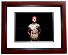 Travis Barker Signed - Autographed BLINK 182 Drummer 11x14 inch Photo MAHOGANY CUSTOM FRAME - Guaranteed to pass PSA or JSA