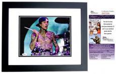 Travis Barker Signed - Autographed Blink 182 Dummer 8x10 Photo BLACK CUSTOM FRAME - JSA Certificate of Authenticity
