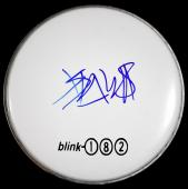 Travis Barker Signed - Autographed Drumhead with BLINK-182 logo sticker - BLINK182 Drummer Drum head - Guaranteed to pass PSA or JSA