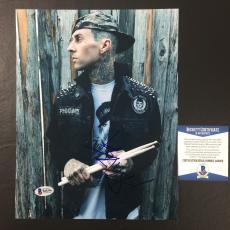 Travis Barker Signed Blink-182 California 8x10 Photo Bas Coa Beckett 3