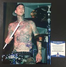 Travis Barker Signed Blink-182 California 8x10 Photo Bas Coa Beckett 6