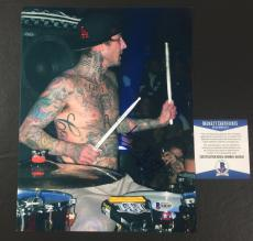 Travis Barker Signed Blink-182 Enema Of The State 8x10 Photo Bas Coa Beckett 5