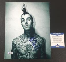 Travis Barker Signed Blink-182 Enema Of The State 8x10 Photo Bas Coa Beckett 7