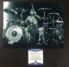 Travis Barker Signed Blink-182 Transplants 8x10 Photo Bas Coa Beckett 3