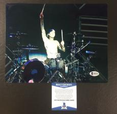 Travis Barker Signed Blink-182 Transplants 8x10 Photo Bas Coa Beckett 5