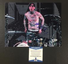 Travis Barker Signed Blink-182 Transplants 8x10 Photo Bas Coa Beckett 6
