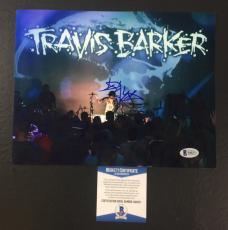 Travis Barker Signed Blink-182 Transplants 8x10 Photo Bas Coa Beckett 7