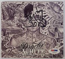Travis Barker Signed Psycho White CD Cover PSA/DNA U20927 Blink 182 Autograph