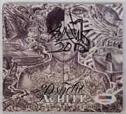 Travis Barker Signed Psycho White CD Cover PSA/DNA COA Blink 182 Autograph Auto