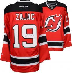 Travis Zajac New Jersey Devils Autographed Red Reebok Premier Jersey