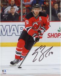 "Travis Zajac New Jersey Devils Autographed Skating with Puck 8"" x 10"" Photograph"