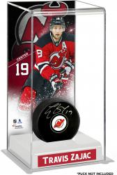 Travis Zajac New Jersey Devils Deluxe Tall Hockey Puck Case