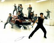 John Travolta Autographed 11'' x 14'' Singing Red Car Photograph