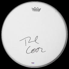 Tre Cool Of Green Day Signed Remo Drumhead! American Idiot! Psa/dna Coa W24974