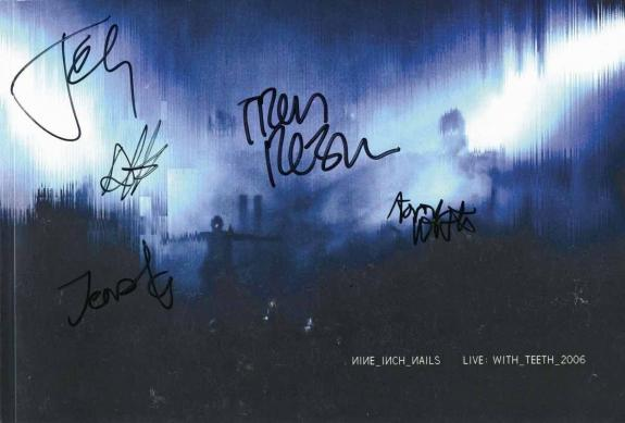 Trent Reznor And Band Signed 2006 With Teeth Tour Photo Book Psa/dna U14365