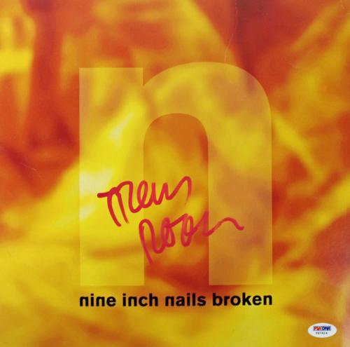 "Trent Reznor Authentic Signed ""broken"" 12"" X 12"" Album Flat! Psa/dna Coa V67414"