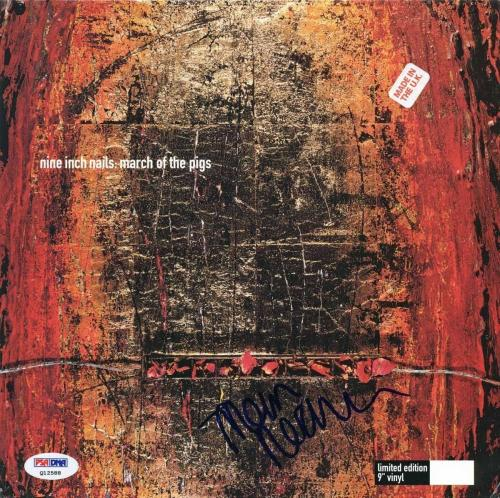 "Trent Reznor Authentic Signed March Of The Pigs 9"" Vinyl Rare Psa/dna Q12588"