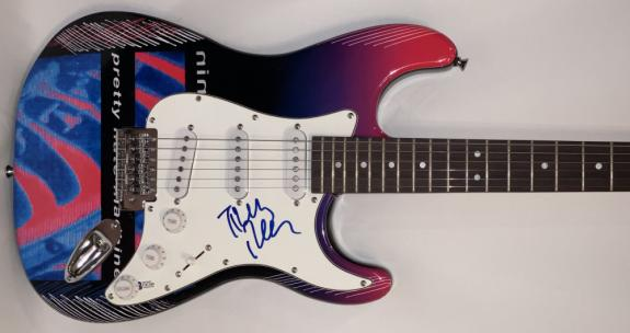 Trent Reznor Nin Signed Full Size Custom Electric Guitar Authentic Auto Beckett