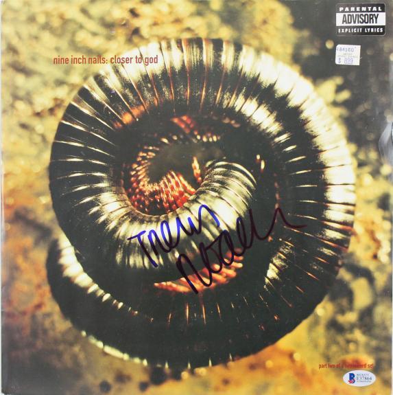 Trent Reznor Nine Inch Nails Signed Closer To God Album Cover BAS #E37864