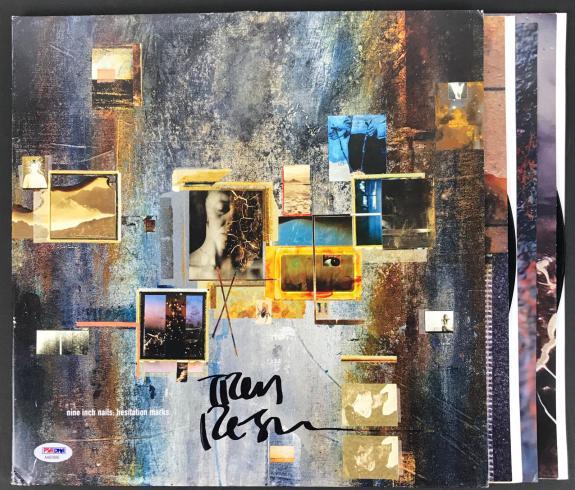 Trent Reznor Nine Inch Nails Signed Hesitation Marks Record Album PSA/DNA COA