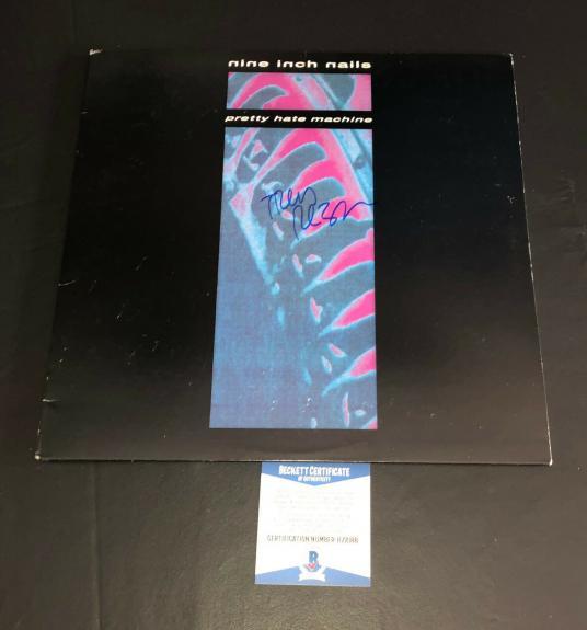 Trent Reznor Signed Nine Inch Nails Pretty Hate Machine Vinyl Album Lp Beckett