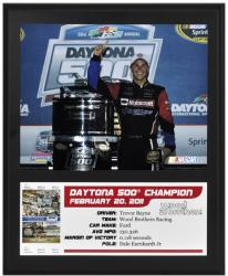 Trevor Bayne 2011 Daytona 500 Champion Sublimated Photo 12x15 Plaque - Mounted Memories