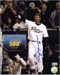 Trevor Hoffman Autographed 500th Save Photo - 8x10