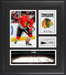 """Trevor van Riemsdyk Chicago Blackhawks Framed 15"""" x 17"""" Collage with Piece of Game-Used Puck"""