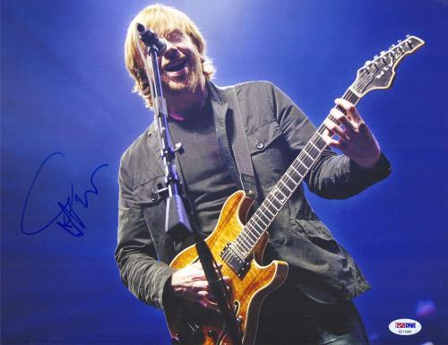"""Trey Anastasio Autographed 11"""" x 14"""" Phish Playing Guitar Photograph - PSA/DNA COA"""