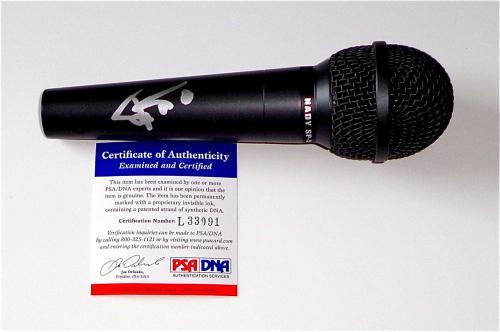 Trey Anastasio Phish Signed Microphone Psa Coa L33091