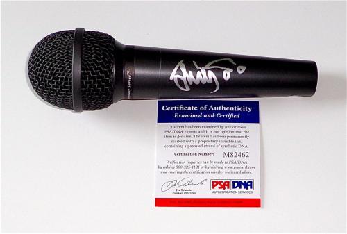 Trey Anastasio Phish Signed Microphone Psa Coa M82462