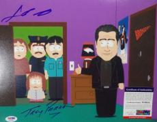 Trey Parker & John Travolta Psa/dna Coa Signed Autograph 11x14 South Park Photo